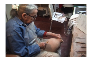 Mary Fassett Working at age 94
